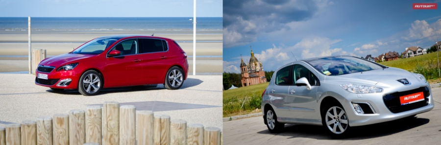 Peugeot 308 new and Old
