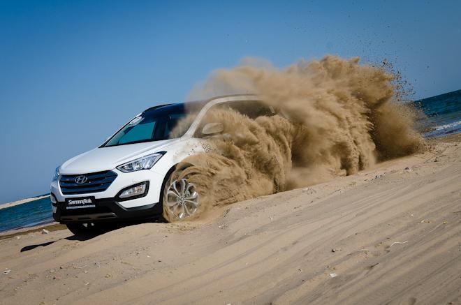 Первый тест Hyundai Santa Fe — испытание Казахстаном