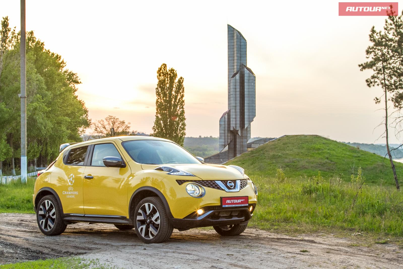 Тест-драйв Nissan Juke 1.6 DIG-T: Днепр, мина и опрос.