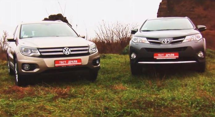 Сравнительный тест дизельных VW Tiguan и Toyota RAV4 (видео)